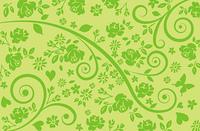 蔦模様 背景 緑色