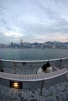 九龍から望む香港島