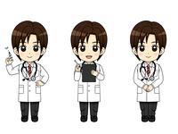 様々なポーズの医師