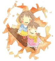 紅葉の秋(カラー)