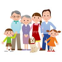 大家族とペット