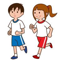 ジョギングする子供