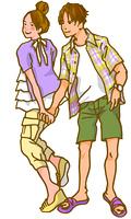 夏のカップル