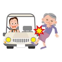 交通事故に合うお年寄り