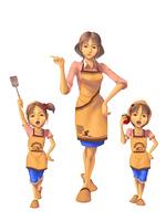 料理_02_家族で料理 切り抜き用_背景なし全身図