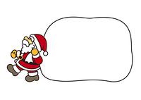 サンタのおじさんと大きな袋