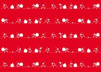 サンタパターン大(赤)
