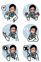 医者の表情セット
