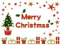 チェック柄のクリスマス素材