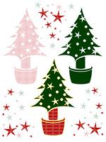クリスマスツリーと星