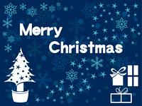 青いクリスマス素材