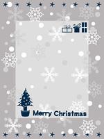 白いクリスマスカード