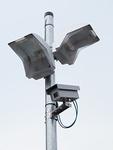 防犯灯と防犯カメラ