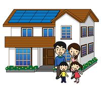 一軒家 ソーラーパネル 2世代