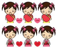 バレンタインデー 女の子感情セット