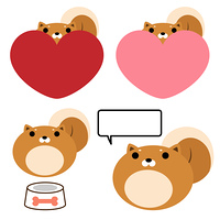 バレンタインデー 柴犬