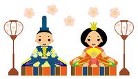 ひな祭り 男雛と女雛