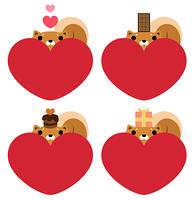 バレンタインデー プレゼントを頭に乗せた柴犬
