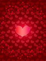 バレンタイン_ピンクのハート