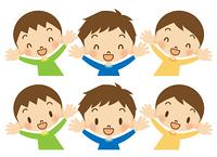 喜ぶ男の子たち 笑顔セット 長袖