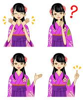 袴/女性/表情セット