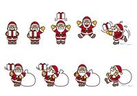 サンタクロースたち