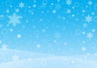 雪の降る景色(ブルー)