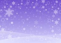 雪の降る景色(パープル)