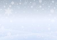 雪の降る景色(シルバー)