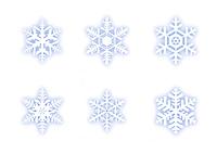 雪の結晶(ブルー)