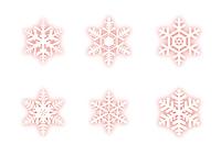 雪の結晶(赤)