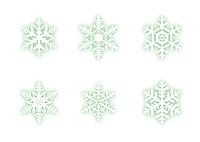 雪の結晶(グリーン)