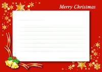 クリスマスカード(赤)