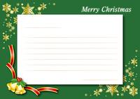 クリスマスカード(グリーン)