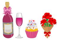 母の日のギフト,お菓子とお酒