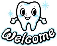歯のキャラクター(Welcome)