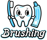 歯のキャラクター(Brushing)
