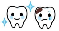 歯のキャラクター(良い歯と虫歯)