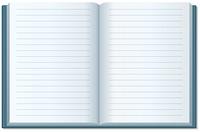 開いたノート(罫線)