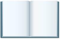 開いたノート(白紙)