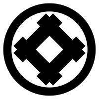 家紋[丸に隅立て井筒]
