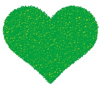 緑のハート
