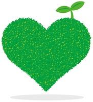 緑のハート(芽)