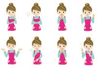 主婦の表 情バリエーション