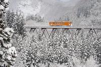 鉄橋雪景色