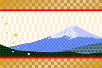 和柄の富士山の年賀状