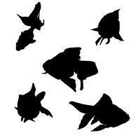 金魚イラストシルエット