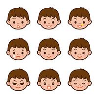男の子 表 情 セット