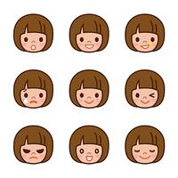 女の子 表 情 セット