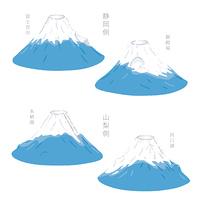 静岡と山梨の富士山